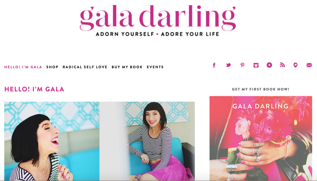 Gala Darling About Page Example